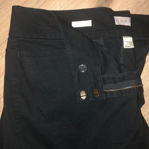 Skinny twill ankle pants